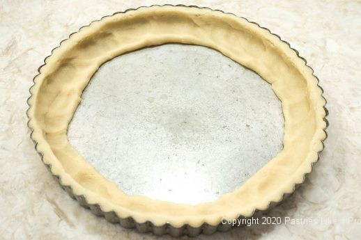 Pastry worked toward center