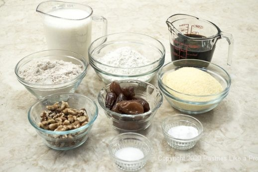 Ingredients for Date Nut Bread