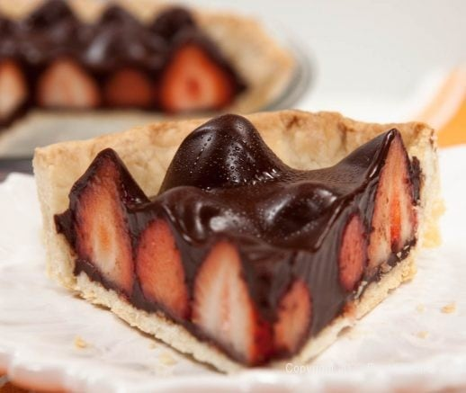 Chocolate Fresh Strawberry Pie