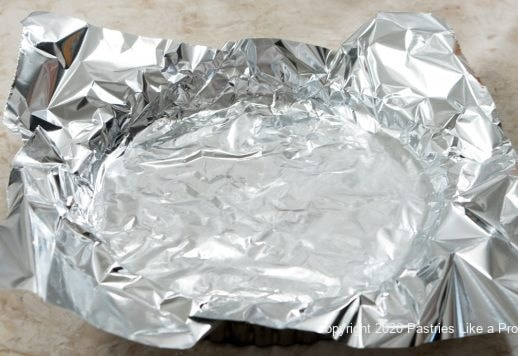 Crusted line with foil