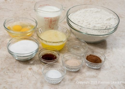Ingredients for Conchas