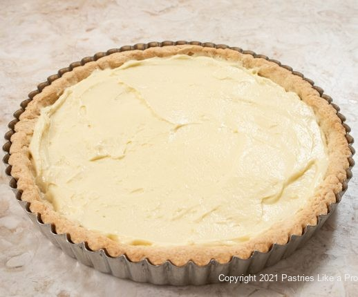 Pastry cream in pastry shell