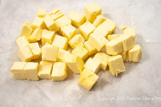 Butter cut into pieces